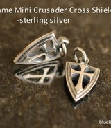 SteelFlame Mini Crusader Cross Shield Pendant