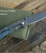 Spartan Harsey Folder, Blue Anodize